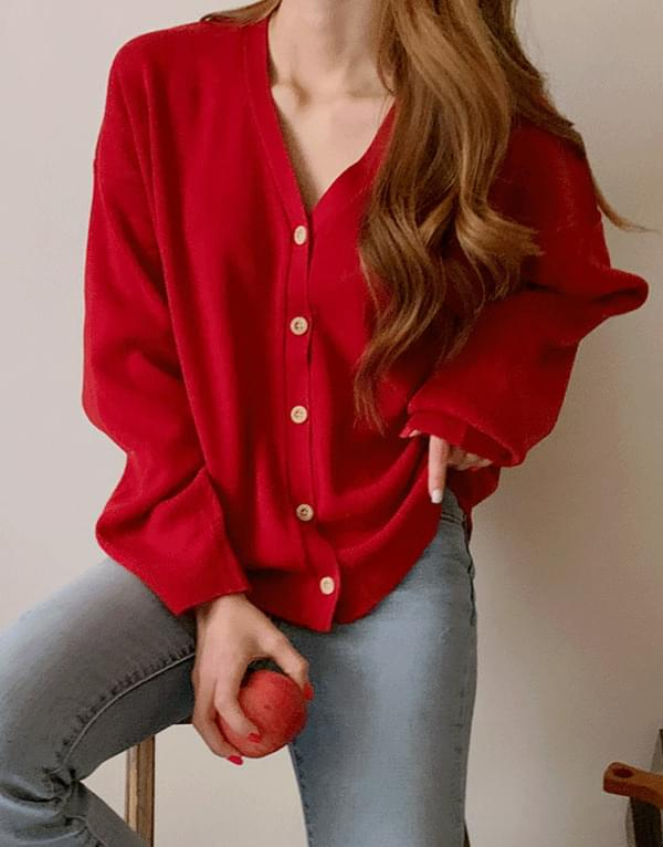 Rooney Color V Neck Cardigan