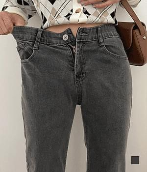 Gray Baggy Jeans with Comfortable Waist Banding