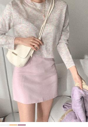 Iridescent Cotton Candy Round Knitwear
