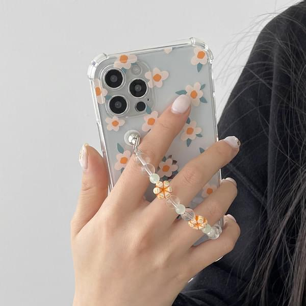 Citrus Flower Bead Strap iPhone Case