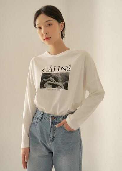Carlins round printed T-shirt