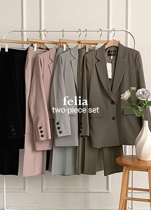 Pelia basic two-piece slacks trousers