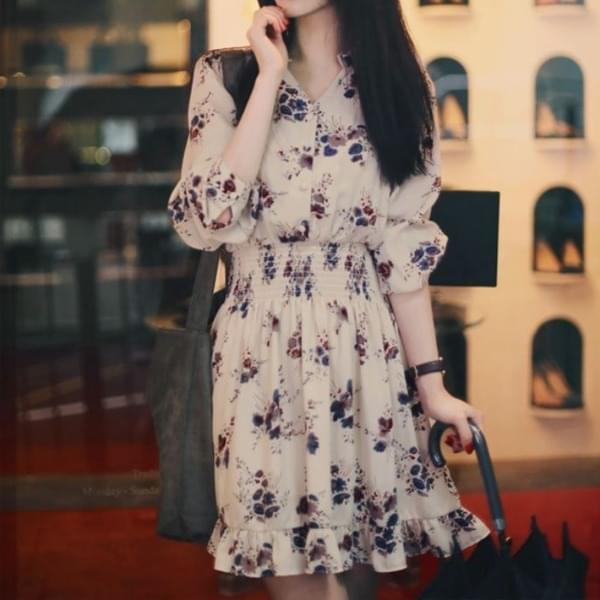 Mini flower chiffon dress Dress