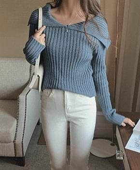 Logis Ribbed Collar Knitwear