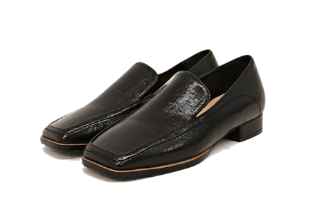 Square Toe Glossy Loafers
