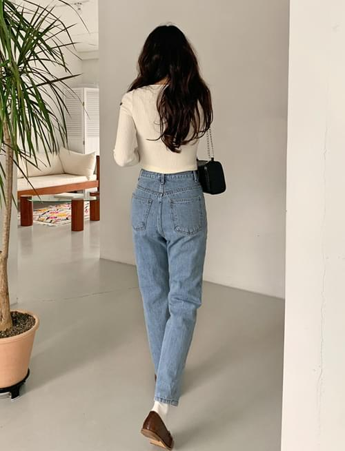 Steady straight denim pants