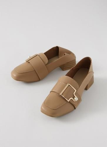 Rich Pearl Buckle Two-Way Loafer Heel LHLTR1d065