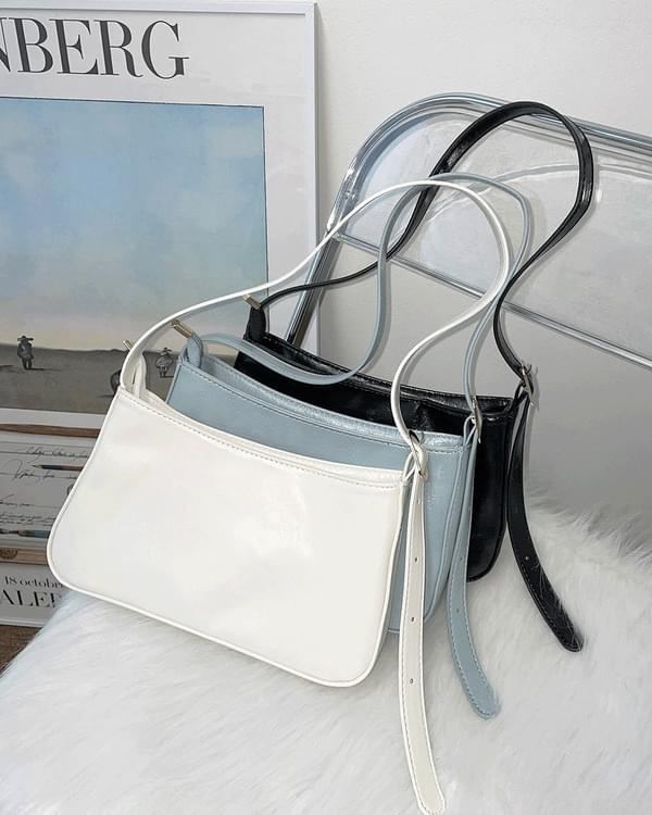 Mir Basic Plain Leather Shoulder Bag