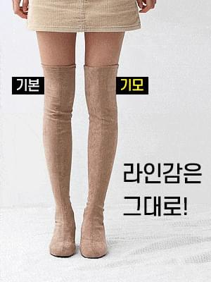 Semi-Square Nose Square Nose Round Nose Extremely Tight Spandex Middle Heel High Socks Boots 9367&9368&9369 ♡Second Sold Out♡