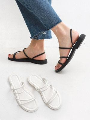 Isshu 2way slim strap slippers & slingback flat sandals 10784 ♡17 sold out♡