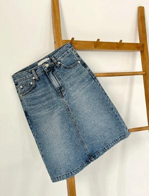 Bottle mini denim skirt