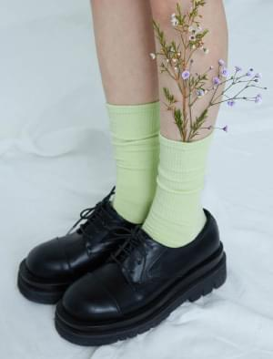 Kelly pastel Ribbed socks