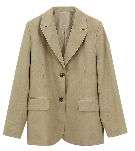 Train two-button jacket