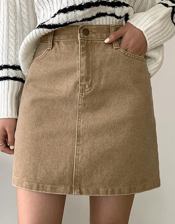 Dyed cotton Faded skirt