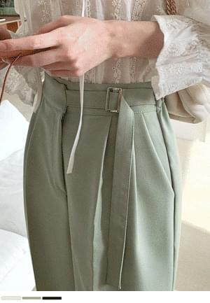 Cover Silhouette Belt Semi-Wide Slacks
