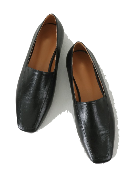 Glow Wrinkle Square Loafers
