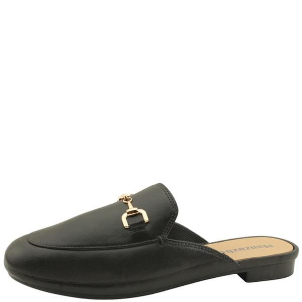 Chain Jelly Flat Mule Blower Black