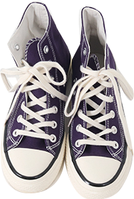High-top converse sneakers