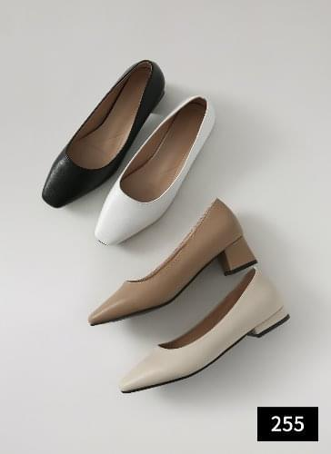 Brial Square Full Heel Pumps