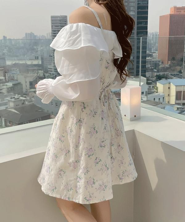 Perfume Flower Bustier Dress 2color
