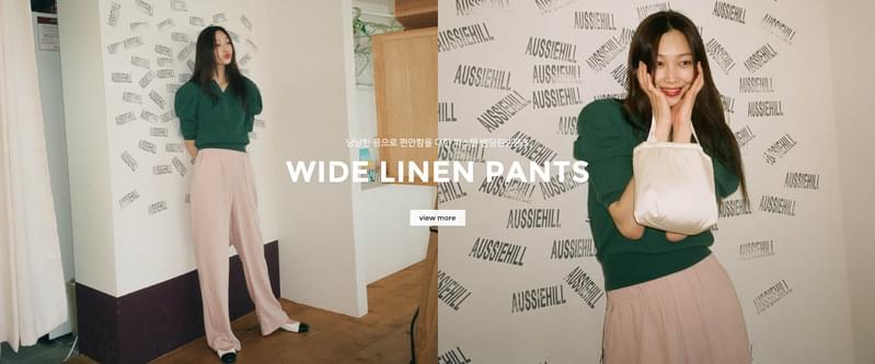 Roy wide linen banding pants