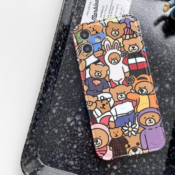 Gather Bear Full Cover iPhone Case