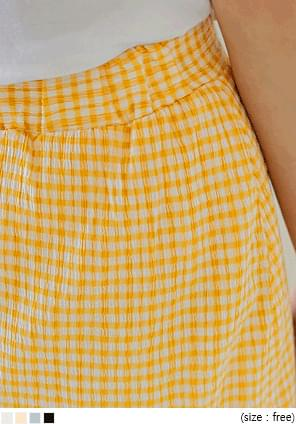 MARELLI GINGHAM CHECK LONG SKIRT