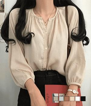 Tam Tam Loose-fit linen-feel blouse