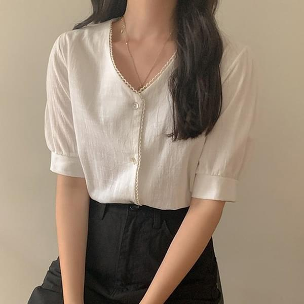 Audrey V-neck blouse
