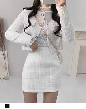 There's a tweed two piece