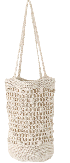 Regular net shoulder bag