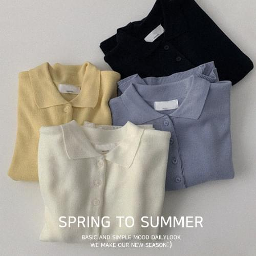 Wazz Color Short Sleeve Knitwear