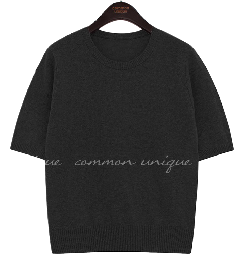 Ribbed Edge Knit Top - 2 Types