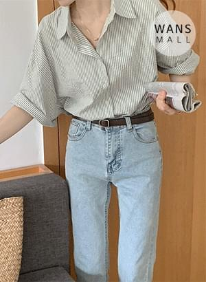 nb4437 Nature Stripe Short Sleeve Shirt