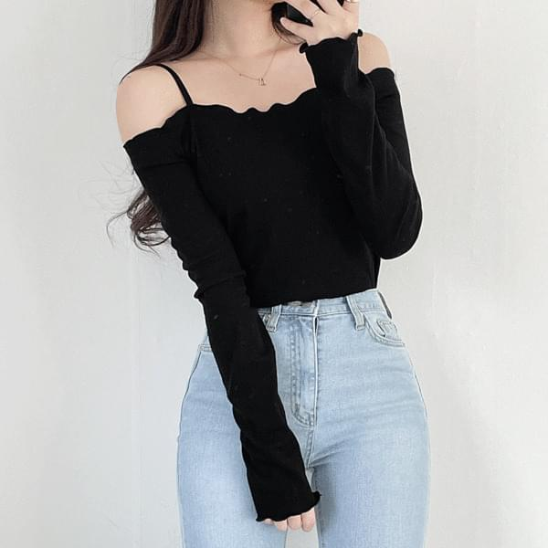 Lovely Wave Off Shoulder T