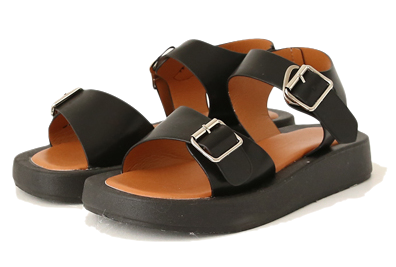 Buckled Strap Square Toe Sandals