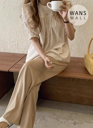 bl4420 Toms frill short sleeve blouse