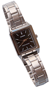 Square Face Linked Strap Wristwatch