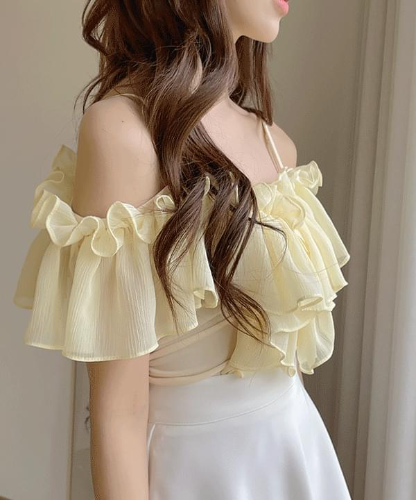 Lenny Off Shoulder Frill Blouse 3color