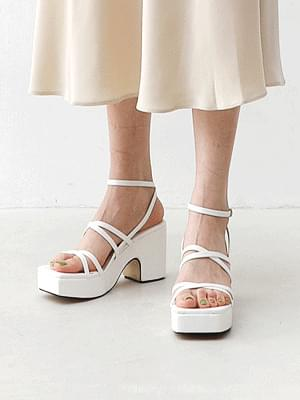 Isshu Double X Cross Chunky-heeled Lay Sandals 2523 ♡ 2nd Sold Out♡