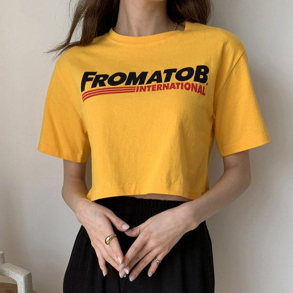 Prom cropped short-sleeved T-shirt