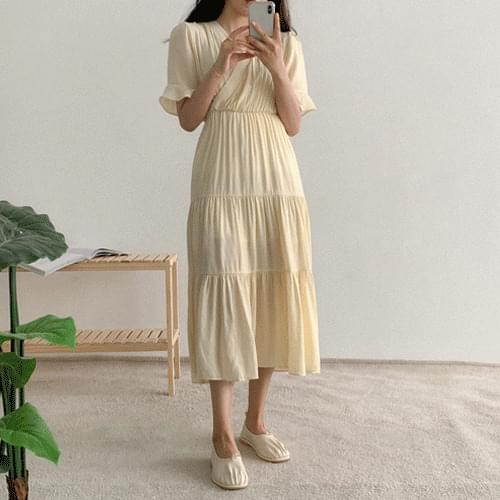 Recommended for the tallest girl, Dog Naris Spring Long Dress
