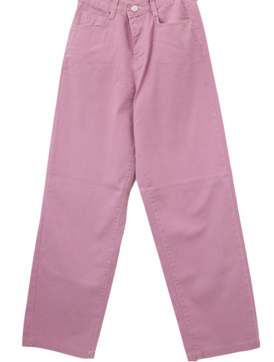 Natural Faded Summer Wide Straight Pants