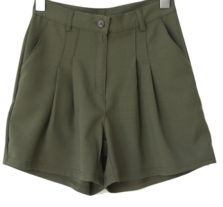Cool two pintuck A-line shorts