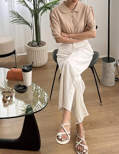 Dail wide cotton trousers