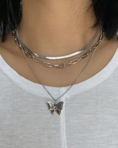 Butterfly 3 Set Layered Necklace