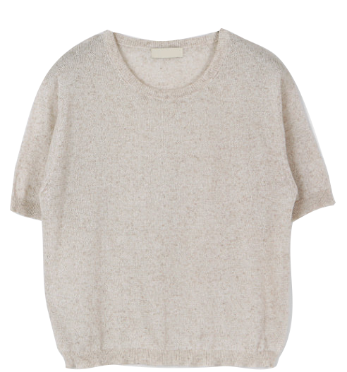 Sle Linen Round Short Sleeve Knitwear - 4 color