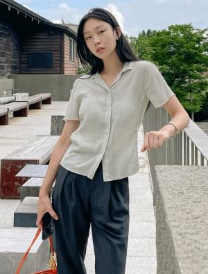 Poing Line Wrinkle Blouse