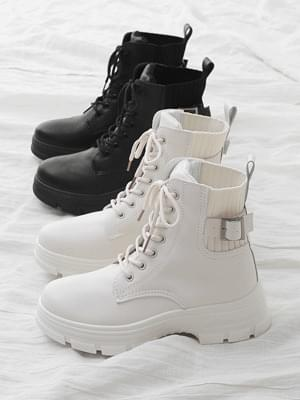Over outsole Shibori Lace-up Whole Heel Worker Boots 11061 ♡ 6th Sold Out♡