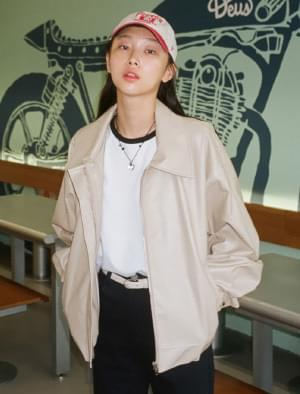 Ver overfit leather jacket